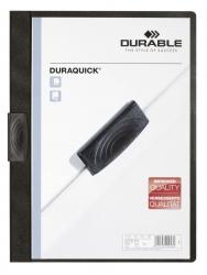 Klemm-Mappe DURAQUICK® - Weich-/Hartfolie, 20 Blatt, transparent/schwarz