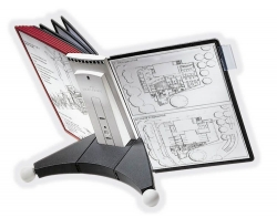 Sichttafelsystem SHERPA® TABLE - 10 Tafeln, anthrazit/grau