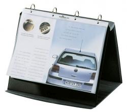 Tischflipchart DURASTAR® - A4 quer, basalt, mit 10 PP-Hüllen