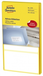 3345 Adress-Etiketten - 95 x 48 mm, selbstklebend, 282 Stück