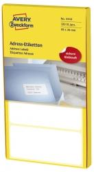 3344 Adress-Etiketten - 89 x 36 mm, selbstklebend, 320 Stück