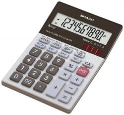 Tischrechner EL-M711G, Batterie/Solar, 100 x 151,5 x 33 mm, schwarz/weiß