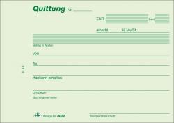 Quittung - Block - SD, 2 x 40 Blatt, DIN A6 quer