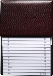 Telefon-Klappregister - weinrot, 160 x 230 mm