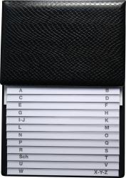 Telefon-Klappregister - schwarz, 160 x 230 mm