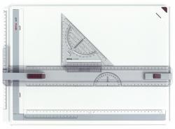 Zeichenplatte Rapid, A3, schlagfester Kunststoff, hellgrau