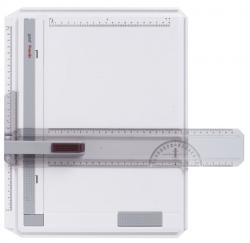 Zeichenplatte Profil, A4, schlagfester Kunststoff, hellgrau