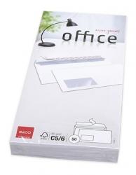 Briefumschlag Office - C5/6DL, hochweiß, haftklebend, mit Fenster, 80 g/qm, 50 Stück