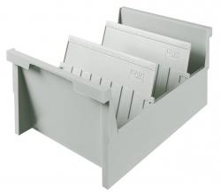 Einhängetrog DIN A5 quer, für 1000 Karten, lichtgrau