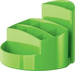 Schreibtischköcher RONDO - 9 Fächer, Gummifüße, Briefschlitz, New Colours grün