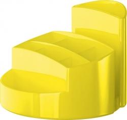Schreibtischköcher RONDO - 9 Fächer, Gummifüße, Briefschlitz, New Colours gelb