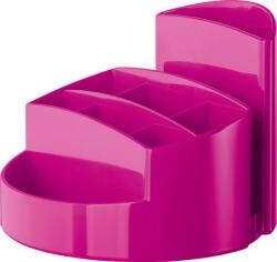 Schreibtischköcher RONDO - 9 Fächer, Gummifüße, Briefschlitz, New Colours pink