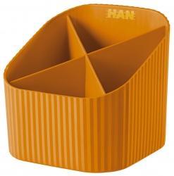 Schreibköcher X-LOOP - 4 Fächer, orange