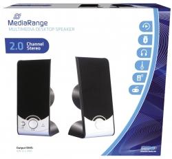 Multimedia Desktop Lautsprecher - schwarz/silber