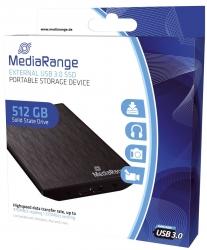 externes USB 3.0 Solid State Laufwerk, 512GB, schwarz