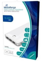 Mobiles Ladegerät | Powerbank 10.000 mAh mit 3 USB-Ausgänge