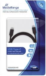 USB-Kabel 3.1 Typ C 1,2m schwarz
