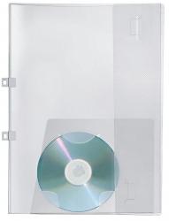 Angebotsmappen Crystal, mit CD-Steckfach, transparent