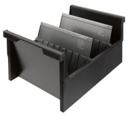 Einhängetrog DIN A5 quer, für 1000 Karten, schwarz