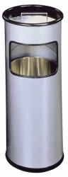 Standascher mit Sandschale METALL rund, 260x620mm (ØxH), 17 l, silber metallic