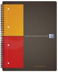 International Notebook - Hardcover, A4+, kariert, 80 Blatt, grau