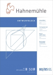 Transparentblock - A3, 80/85 g/qm, 50 Blatt