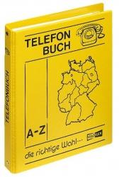 Telefonringbuch - A5, gelb, inkl. Einlagen und 12-teiliges Register A-Z