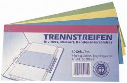 Trennstreifen - 190 g/qm Karton, sortiert, 40 Stück