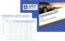 222 Fahrtenbuch - A6 quer, steuerlicher km-Nachweis, 40 Blatt, weiß