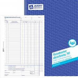 741 Reisekostenabrechnung, DIN A4, für monatliche Abrechnung, 50 Blatt, weiß