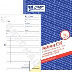 1730 Rechnung, DIN A5, selbstdurchschreibend, 2 x 40 Blatt, weiß, gelb