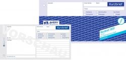 1020 Kurzbrief, DIN A4 (1/3), vorgelocht, 100 Blatt, weiß