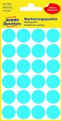 3005 Markierungspunkte - Ø 18 mm, 4 Blatt/96 Etiketten, blau