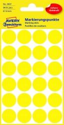 3007 Markierungspunkte - Ø 18 mm, 4 Blatt/96 Etiketten, gelb