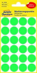 3006 Markierungspunkte - Ø 18 mm, 4 Blatt/96 Etiketten, grün