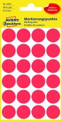 3004 Markierungspunkte - Ø 18 mm, 4 Blatt/96 Etiketten, rot