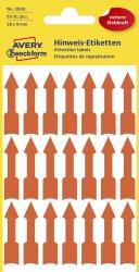 3008 Etiketten in Sonderformaten, 39 x 9 mm, vorgestaltet, 3 Blatt/63 Etiketten, leuchtrot
