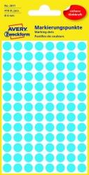 3011 Markierungspunkte - Ø 8 mm, 4 Blatt/416 Etiketten, blau