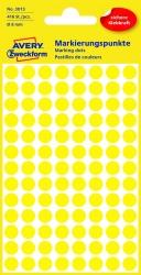 3013 Markierungspunkte - Ø 8 mm, 4 Blatt/416 Etiketten, gelb