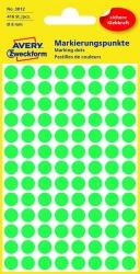 3012 Markierungspunkte - Ø 8 mm, 4 Blatt/416 Etiketten, grün