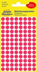 3010 Markierungspunkte - Ø 8 mm, 4 Blatt/416 Etiketten, rot
