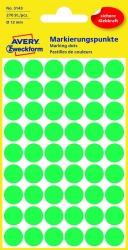 3143 Markierungspunkte - Ø 12 mm, 5 Blatt/270 Etiketten, grün