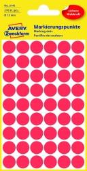 3141 Markierungspunkte - Ø 12 mm, 5 Blatt/270 Etiketten, rot