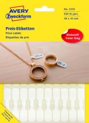 3335 Preis-Etiketten - 49 x 10 mm, weiß, 924 Etiketten/28 Blatt, permanent