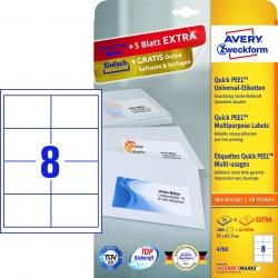4782 Universal-Etiketten - 97 x 67,7 mm, weiß, 240 Etiketten/30 Blatt, permanent