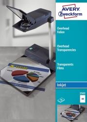 2502 Overhead-Folien, DIN A4, spezialbeschichtet, stapelverarbeitbar, Stärke: 0,11 mm, 50 Blatt