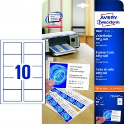 C32010-10 Classic Visitenkarten, 85 x 54 mm, beidseitig beschichtet - matt, 10 Blatt/100 Stück