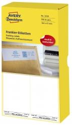 3438 Frankier-Etiketten - einzeln mit Abziehlasche, 164 x 41 mm, 500 Stück