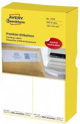 3439 Frankier-Etiketten - einzeln mit Abziehlasche, 130 x 40 mm, 500 Stück