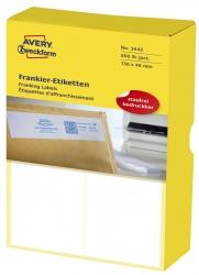 3442 Frankier-Etiketten - doppelt, 138 x 48 mm, 500 Stück